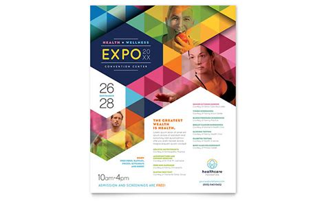 photo flyer template health fair flyer template design