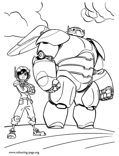 coloring pages for big hero 6 big hero 6 baymax and hiro coloring page