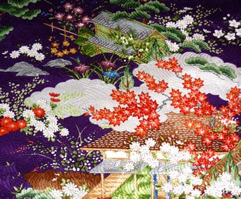 japanese womans silk kimono vintage  japanese