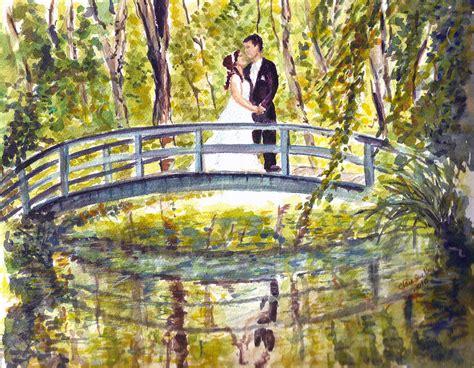 How To Throw A Wedding Shower by Monet Wedding Painting By Clara Sue Beym