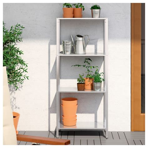 outdoor shelving unit hyllis shelving unit in outdoor 60x27x140 cm ikea