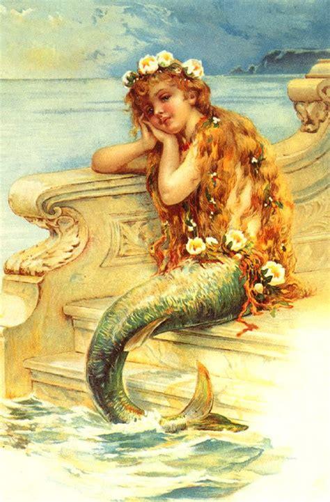 printable mermaid art the artzee blog vintage little mermaid illustration printable