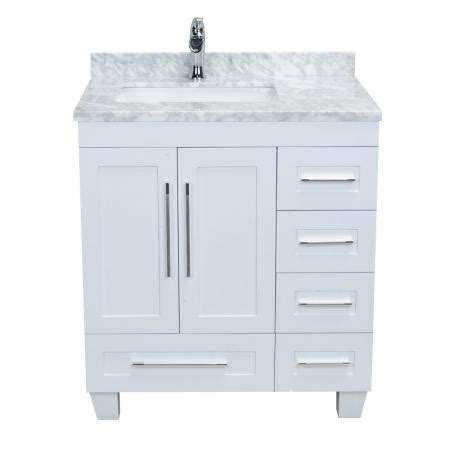 30 white bathroom vanity with top eviva loon 30 quot long handles acclaim edition transitional