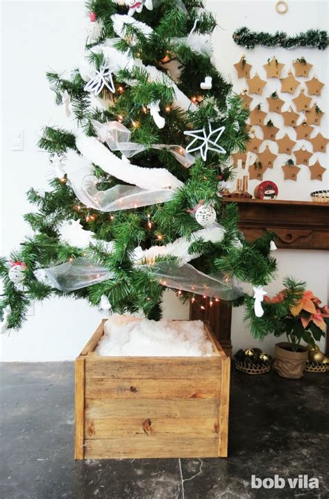 make a diy christmas tree stand with this easy tutorial