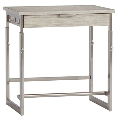 wood standing desk adjustable sullivan gray wood adjustable standing desk