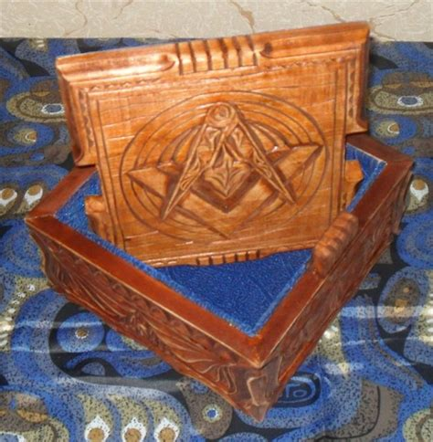 Handmade Wooden Caskets - exclusive casket handmade wood masonic for jewelry ebay