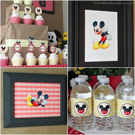 Mickey Mouse Birthday Decorations by 5m Creations Mickey Mouse Decorations Chevron And