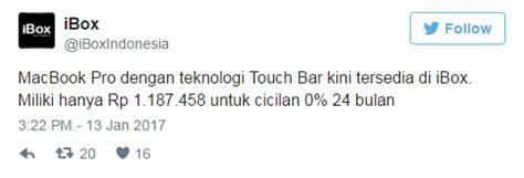 Resmi Macbook Pro Di Indonesia harga resmi macbook pro 2016 touch bar di indonesia situsiphone