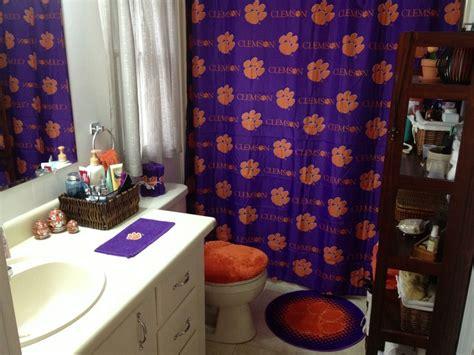 clemson shower curtain clemson shower curtain clemson tiger fan pinterest