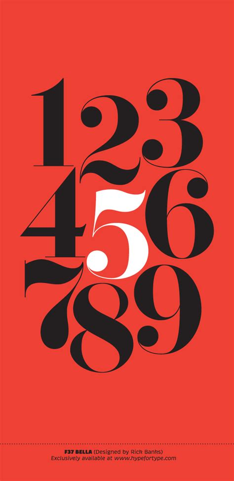 number 3 typography black font book on behance