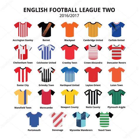 english football league and 1862233551 english football league two jerseys 2016 2017 vector icons set stock vector 169 redkoala