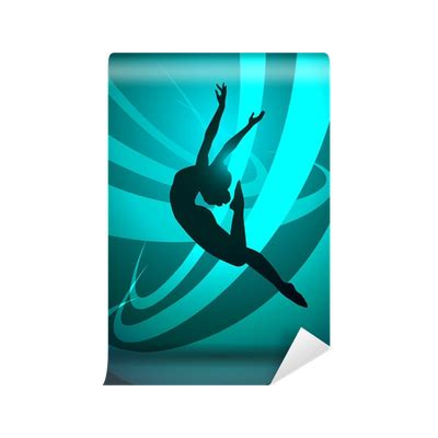 Gymnastics Wall Murals silhouettes gymnastics wall mural pixers 174 we live to
