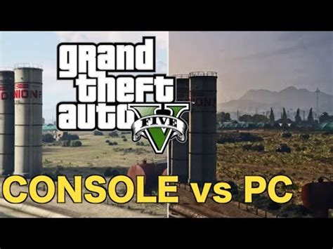 console and pc gta 5 pc vs ps4 comparison gta 5 on pc vs console