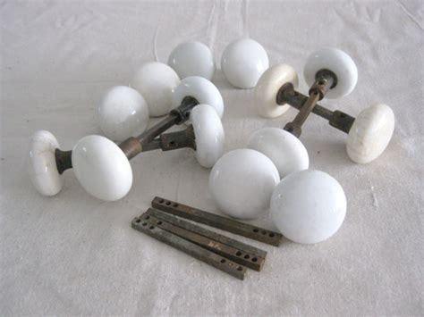 Porcelain Door Knobs Antique Porcelain Door Knobs One Set Of 2 By Riverhousedesigns
