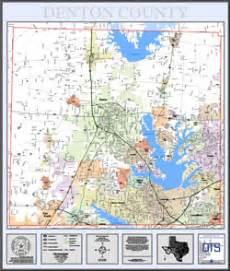 denton county map printed map products denton county