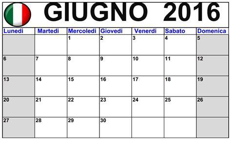 Calendario Giugno 2016 Calendario Di Giugno 2016 Stabile Gratuito 2016