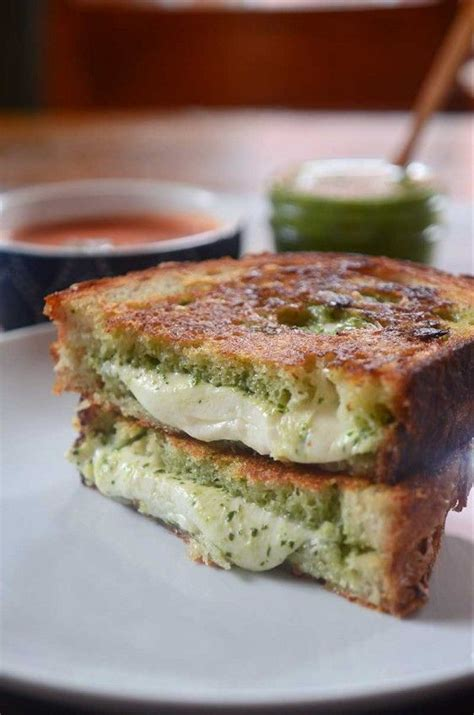 Link Mozzarella And Pesto Grilled Cheese 17 best ideas about pesto grilled cheeses on
