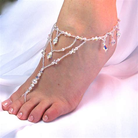 how to make foot jewelry with ethnic collection of wedding barefoot sandal
