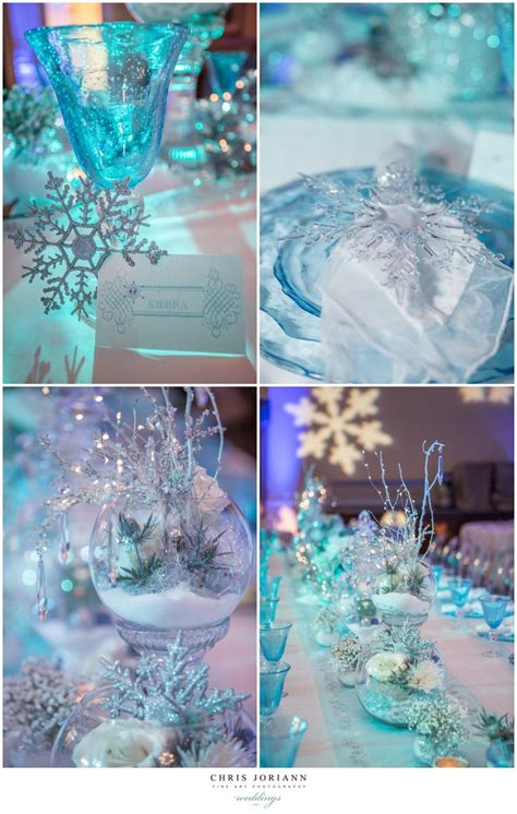 winter themed table decorations winter themed quincea 241 era quince ideas