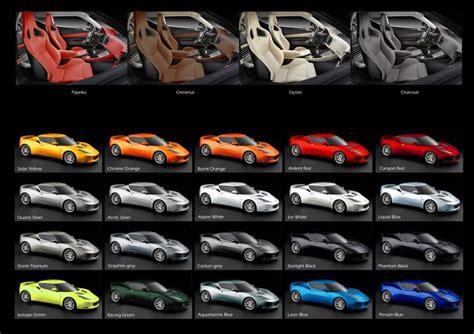 Lamborghini Blue Color Code Official Lotus Evora Exterior And Interior Color Chart