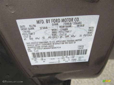 2006 f150 color code cx for shadow grey metallic photo 68776784 gtcarlot