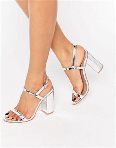 Block Heels Black White Sepatu Wanita Heels s sandals heeled sandals shoes asos