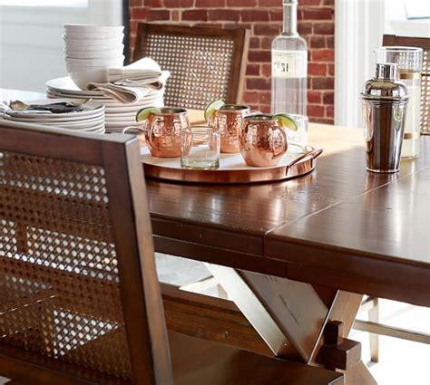 toscana extending dining toscana extending dining table tuscan chestnut pottery barn
