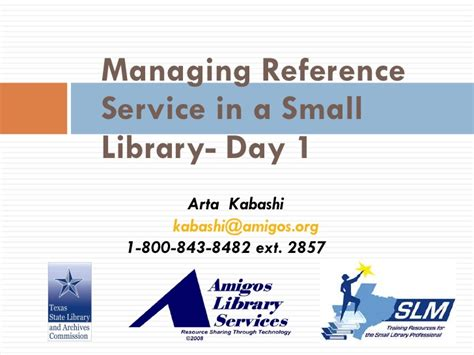 reference book library services small library management day 1