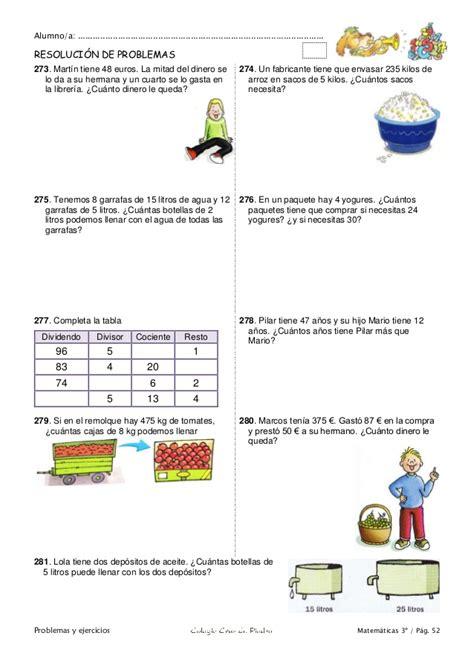 ejercicios tiempo y dinero de 4 de primaria santillana matem 225 ticas de 3 186 primaria problemas y ejercicios