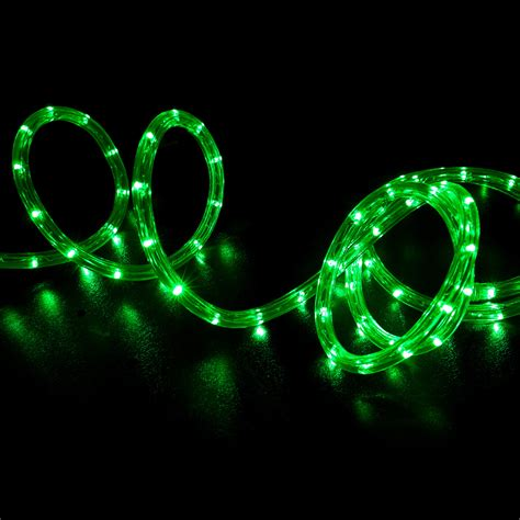 green led rope light home outdoor christmas