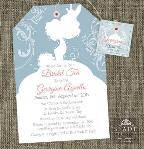printable high tea bridal shower invitations bride silhouette shower tea invitations bridal shower