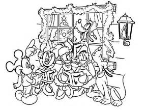 disney christmas color pages coloring