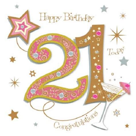 Happy 21st Birthday Greeting Card By Talking Pictures