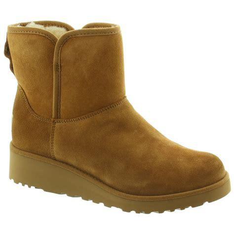 ugg kristin slim ankle boots in chestnut in chestnut