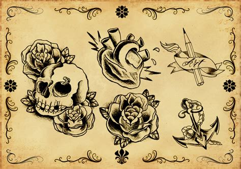 tattoo flash background tattoo flash 5 by xfreakcorex on deviantart