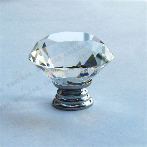 1 pcs 40mm clear glass kitchen cabinet knobs and