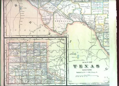 map of texas and arkansas 1895 antique map western texas arkansas railroad nicenr ebay