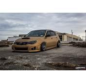 Stanced Subaru Impreza Hatchback Front