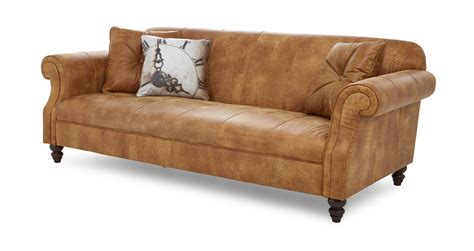 natural leather sofa dfs balmoral ranch natural leather 3 seater sofa 182208