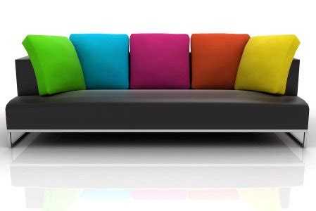 bright colored sofas brick mortar and dream color me red yellow blue