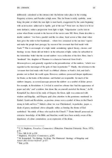 Dante Inferno Essay by Essay How Does Dante S Use Of Optical Theory Influence His Moral Vi