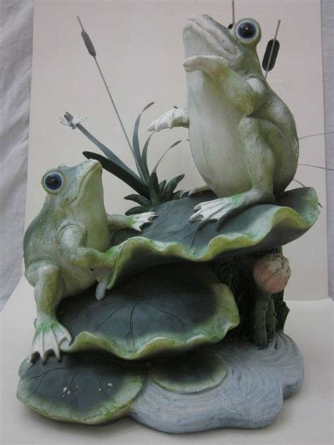 Decorative Frogs by 2 Large Frogs Decorative Garden Koi Pond Statue Ornament