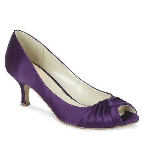 Purple Shoes by Pink Paradox Purple Satin Shoes Wedding Shoes