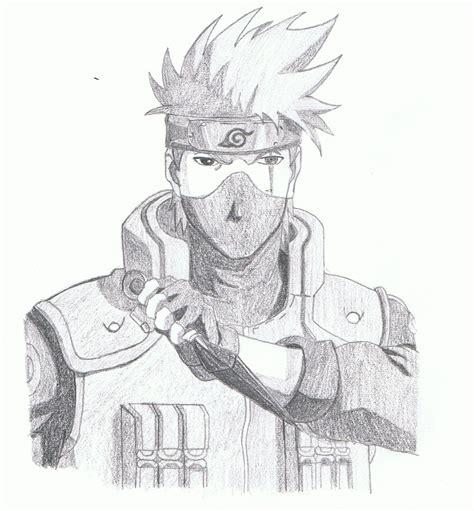 imagenes para dibujar a lapiz de kakashi kakashi por amerguin dibujando