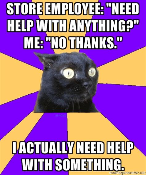 Social Anxiety Meme - social anxiety cat yes memes