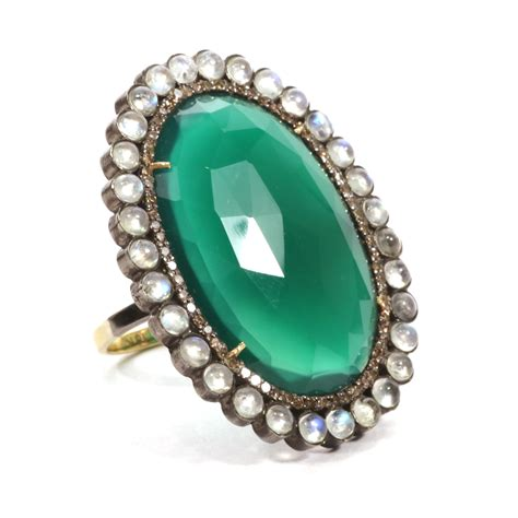 house of onyx green onyx ring house of kahn estate jewelers