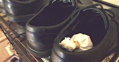 coffee hacks he puts coffee filters in his shoes the next day this is