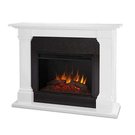 Find Electric Fireplaces by Real Callaway Electric Fireplace In White 8011e W