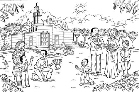 lds coloring pages fasting temple marriage
