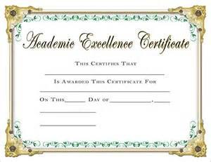 academic award certificate template scholastic certificates academic excellence certificate